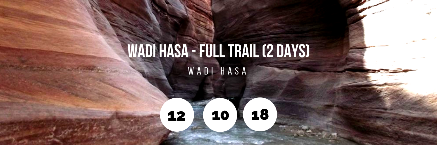 Wadi Hasa - Full Trail (2 Days)