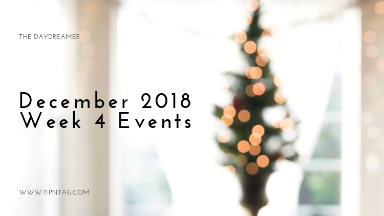 The Daydreamer - December 2018: Week 4 Events | Amman