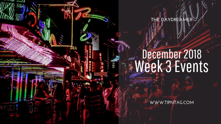 The Daydreamer - December 2018: Week 3 Events | Amman