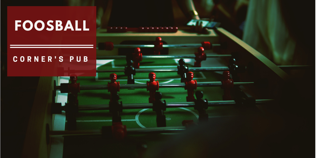 Foosball at Corner's Pub