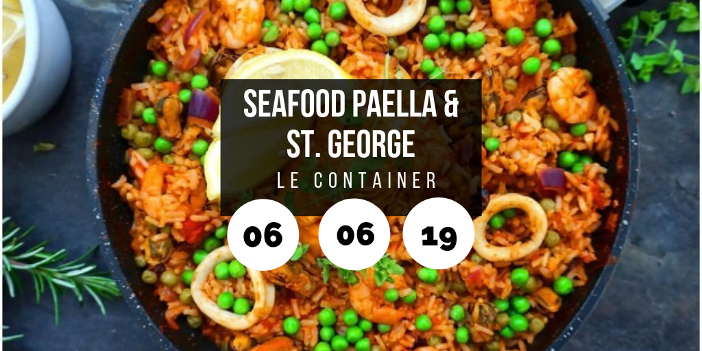 Seafood Paella & St. George Wine @ Le Container