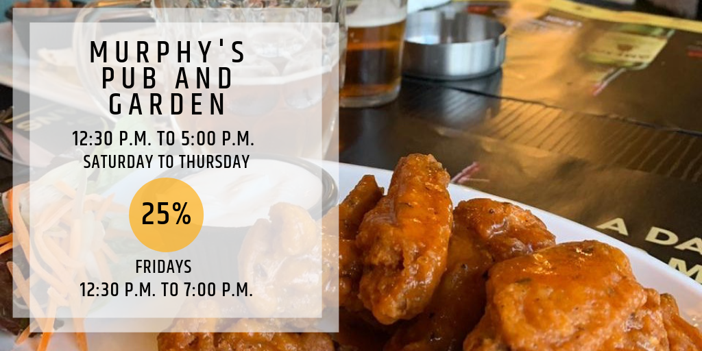 Hungry Hour at Murphy's Pub & Garden