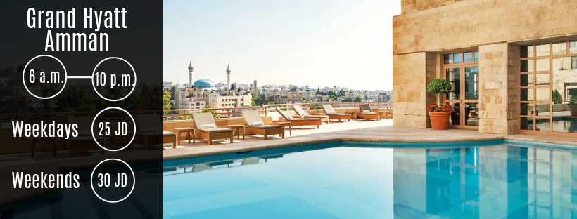Swimming Pool at Grand Hyatt Amman