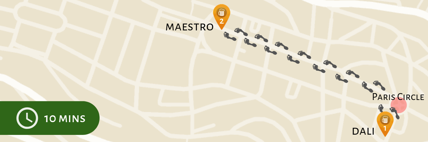 Dali to Maestro Pub Crawl Map