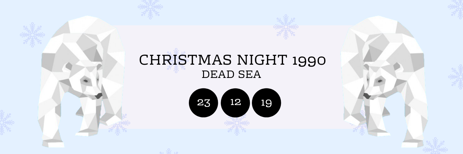 Christmas Night 1990 @ Dead Sea