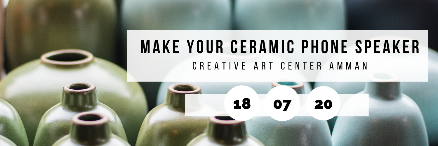 Make Your Ceramic Phone Speaker @ Creative Art Center